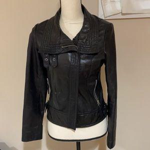 Michael Kors genuine leather jacket size S EUC